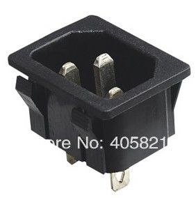 AC power socket,fuse switch 4pins AS-04,3 pins