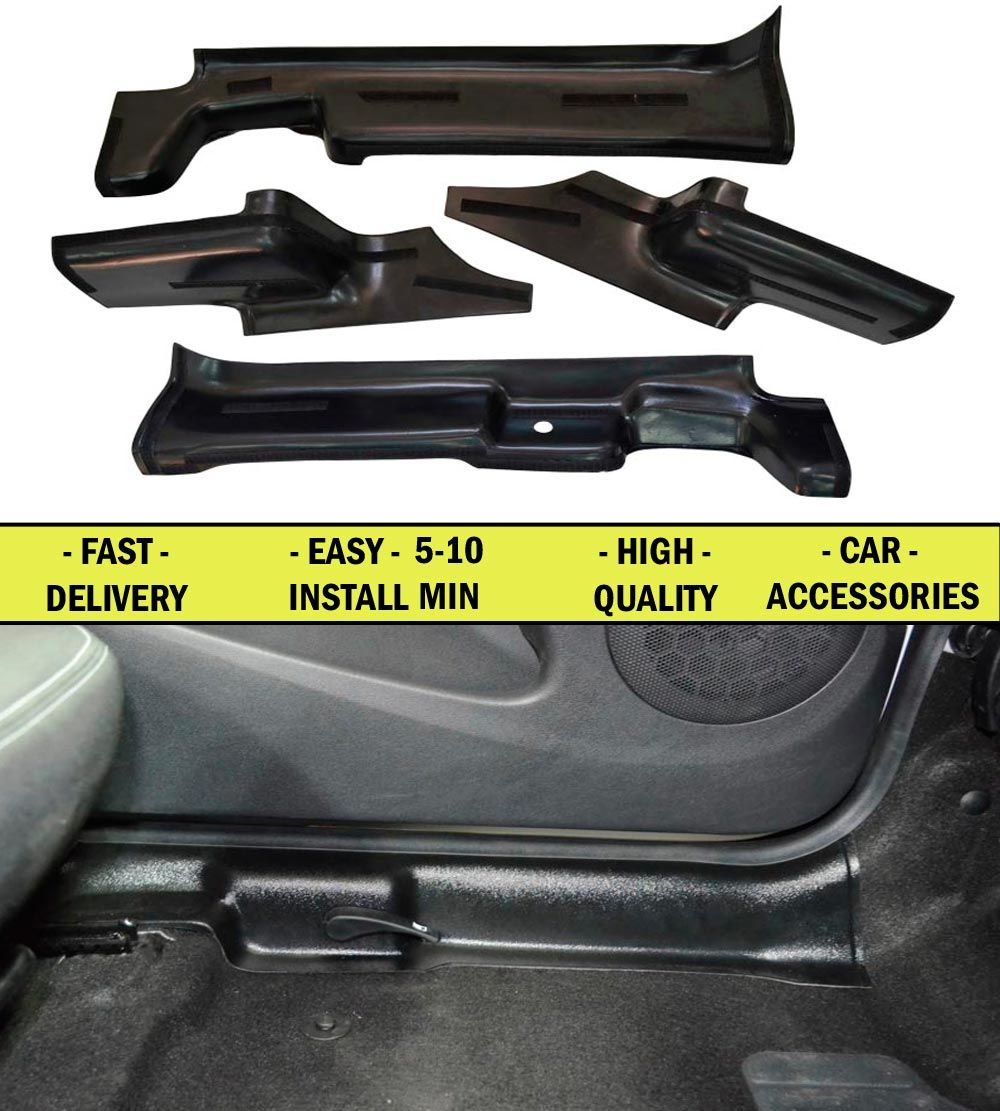Pad door inside carpet for Renault Duster FL 2015-2018 4 pcs ABS plastic Door sill protection of dirt accessories Car Styling