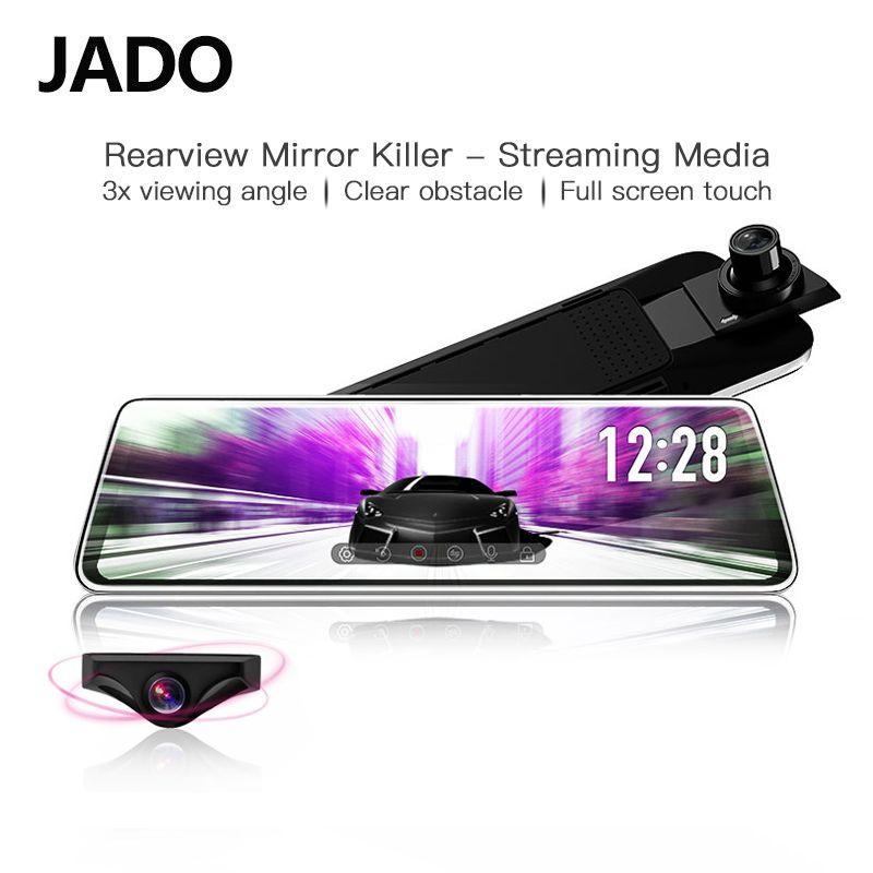 JADO D230 Flux rétroviseur Dvr dash Caméra avtorégistrateur 10 IPS écran tactile Full HD 1080 P Dvr de voiture dash cam vision nocturne