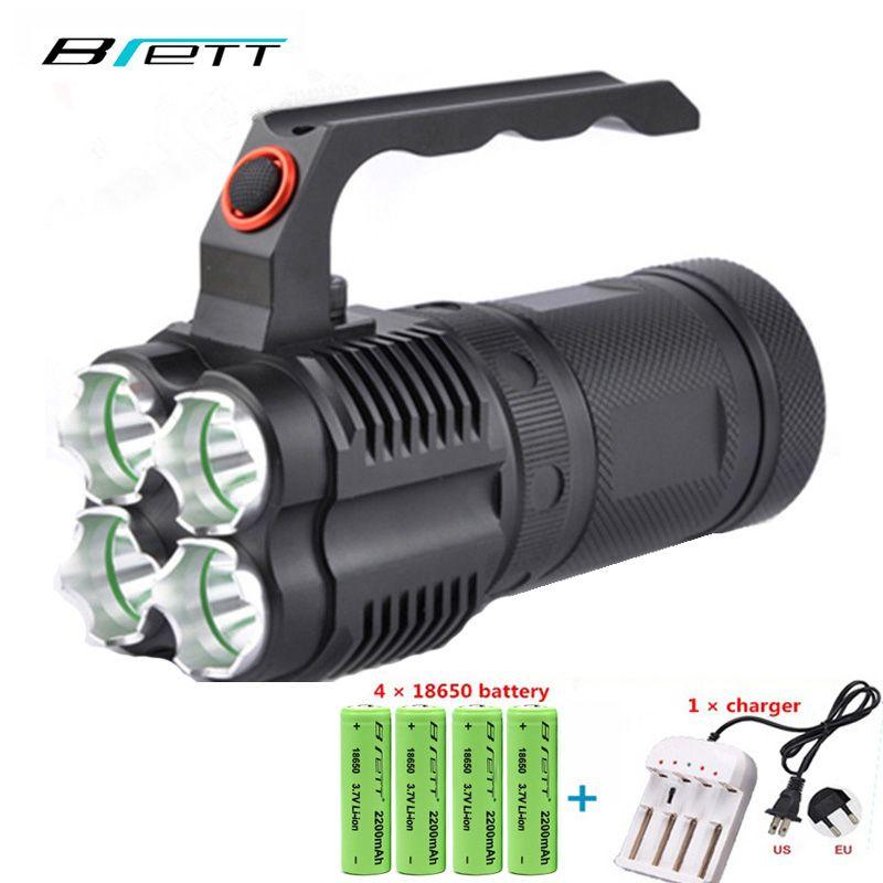Puissant lampe de poche LED cree xm-l2 ou cree xm-l t6 extérieur autodéfense chasse recherche et sauvetage projecteur Portable