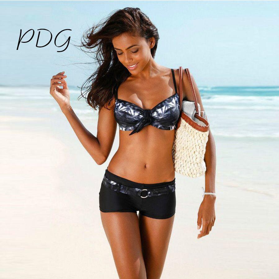 PDG 2017 Arrival Sexy Bikinis Women Swimsuit Swimwear Summer Beach Wear Printed Brazilian Bikini Set Bathing Suits Swim Wear