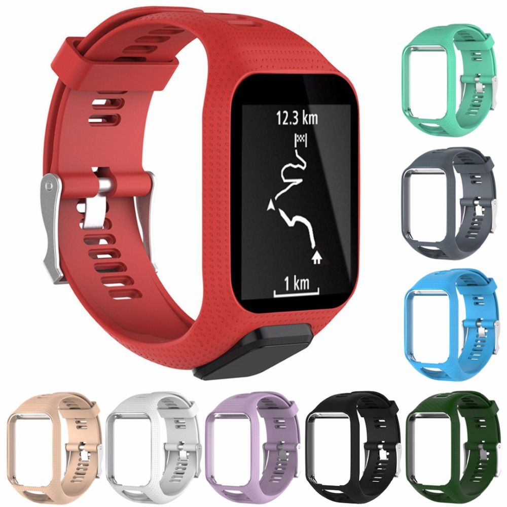 Mayitr Colorful 9 Colors Silicone Replacement Wrist Band Strap For TomTom Golfer 2 Adventurer Runner 2 3 Spark 3 Sport GPS Watch