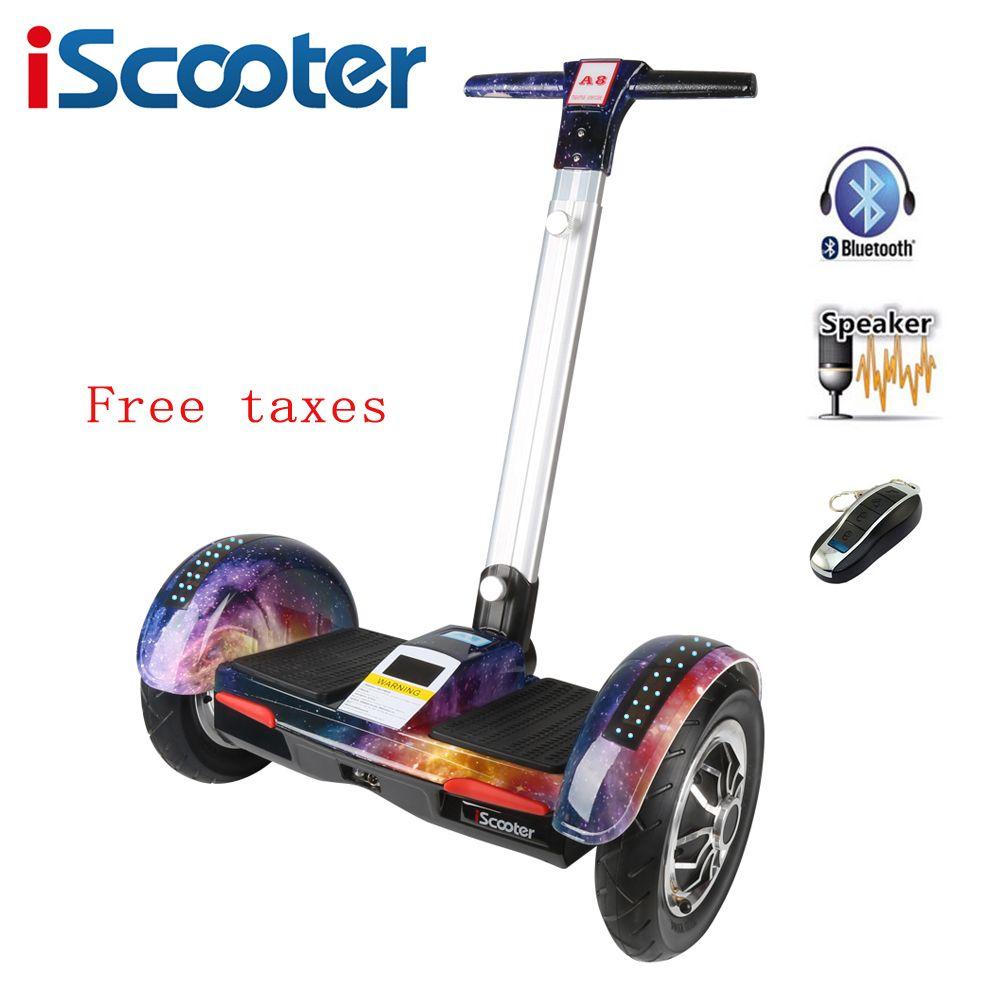 IScooter Hoverboard 10 zoll zwei rad elektrisches skateboard mit Bluetooth und intelligente selbstausgleich roller elektrische hoover bord