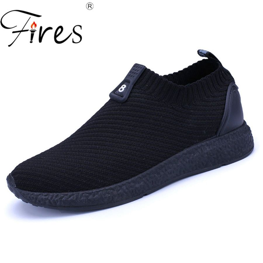 Fires Men Summer Shoes Light Sports Shoes For Man <font><b>Running</b></font> Shoes Fly Sneakers Autumn Trend Zapatillas Sport Flat Jogging Shoes