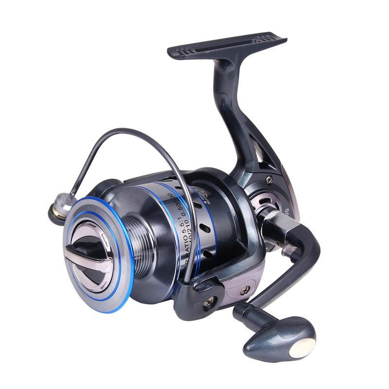 Hot Metal Spinning Reel Fishing Reel 1000-7000 Series 12+1 Ball Bearing Boat Rock Fishing Wheel Aluminum Spool XQ-07