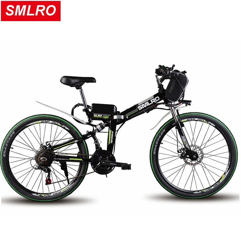 24/26 inch electric mountain bike 48v lithium battery 500w high speed motor powerful folding frame Hybrid ebike Traveling