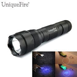 Uniquefire WF-502B UV 395-400NM Ultraviolet Senter LED Scorpion Detector untuk Menemukan Noda Pada Karpet, Karpet atau Mebel dengan Bahan