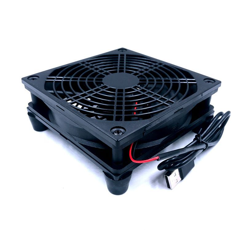 Router fan DIY PC Cooler TV Box Wireless Cooling Silent Quiet DC 5V USB power 120mm fan 120x25mm 12CM W/Screws Protective net