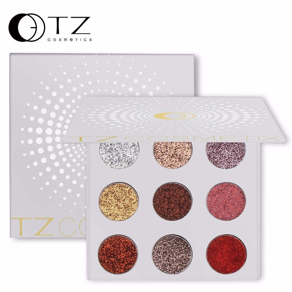 9 Couleurs Glitters Oeil shdow Palette Arc Diamant Pressée Glitters Fards À Paupières Palette Cosmétique Make Up Glitterinjections TZ