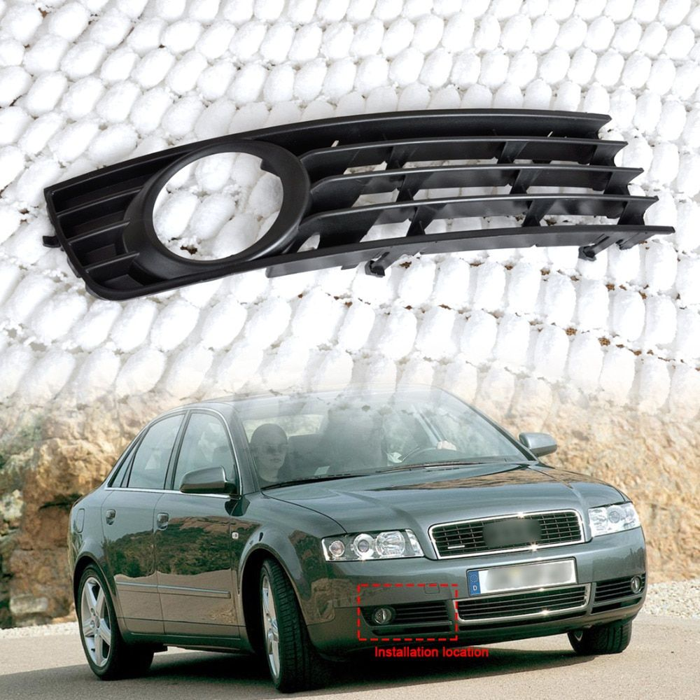 CITALL New 8E0807682 Black Grille Front Right Insert Bumper Fog Light Grille Protective Mesh for Audi A4 B6 2002 2003 2004 2005
