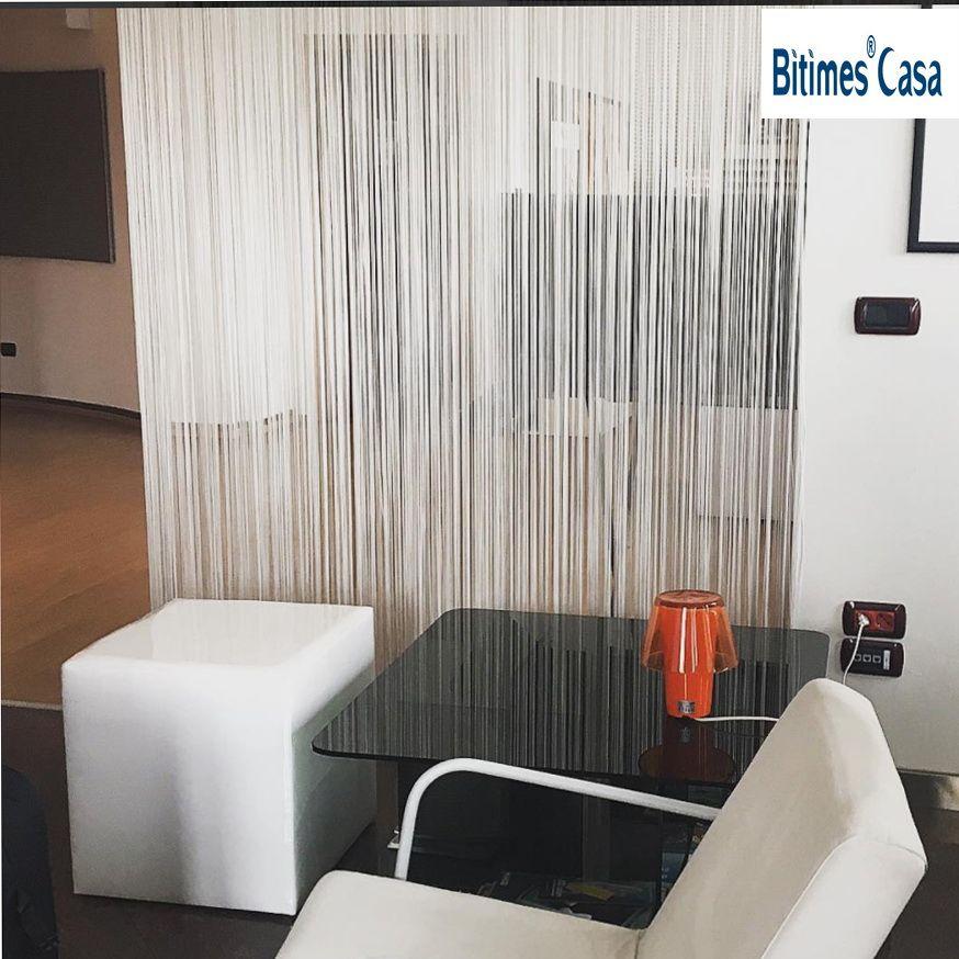 Décoratif W150L300CM couleur unie chaîne rideau ligne rideau noir blanc marron rouge chambre diviseur décoration de la maison fenêtre cantonnière