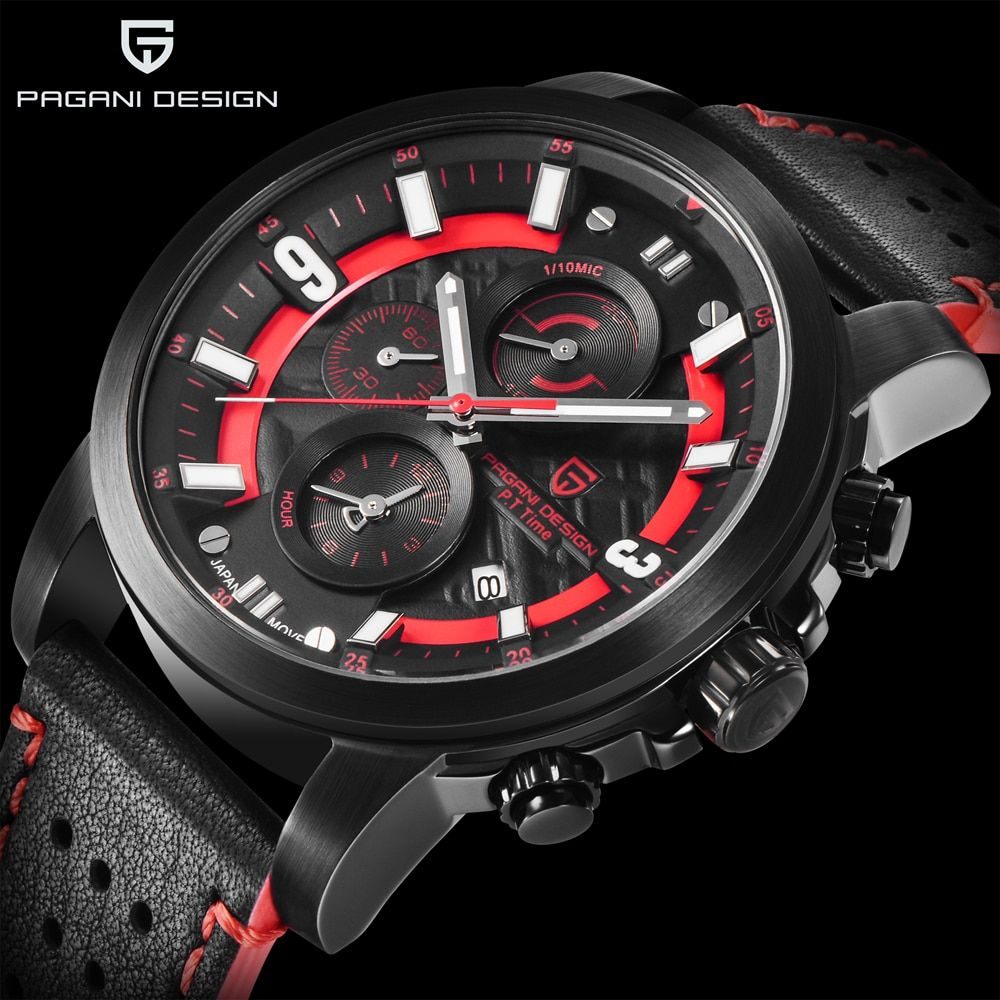 PAGANI DESIGN Mens Watches Top Brand Luxury 2018 New Business Mens Quartz Watches Fashion Sports Leather Clock Relogio Masculino