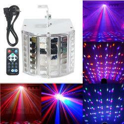 18 W LED RGB Auto/Controle de Som DMX512 Strobe Iluminação Do Efeito de Estágio Lâmpada Luz DJ Disco Party Bar 7 Canais Com Controle Remoto AC90-240V
