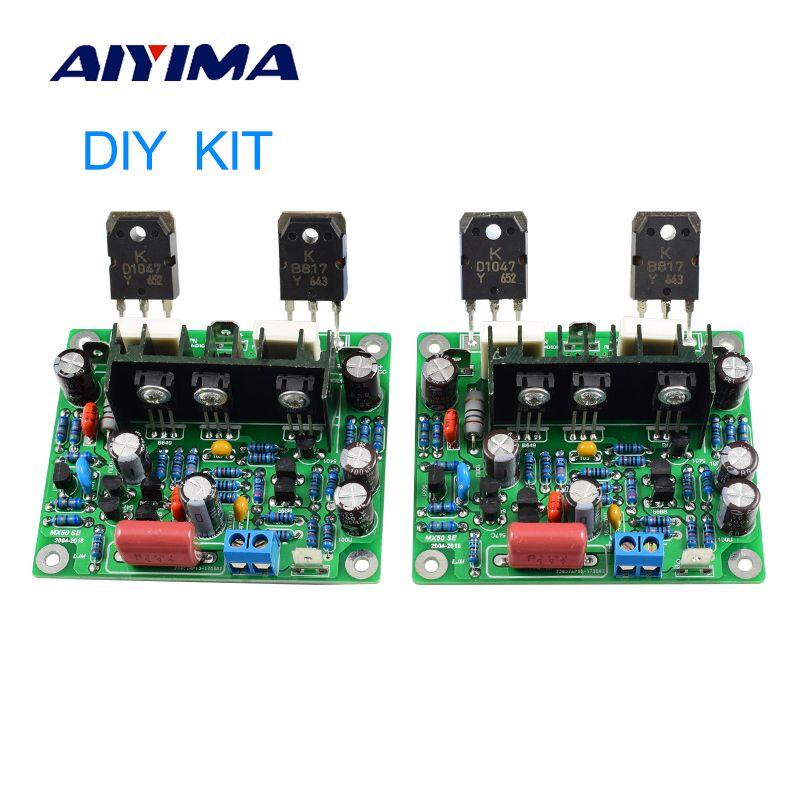 Aiyima 2PCS MX50 SE 100WX2 Dual Channels Audio Power amplifiers Board Diy Kit New Version