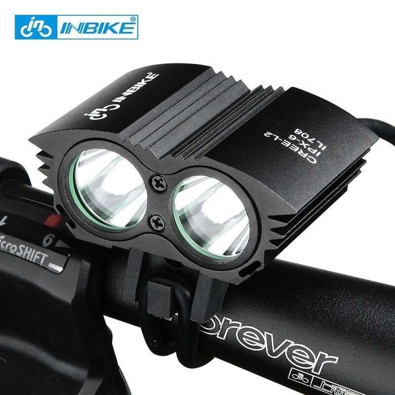 INBIKE Bike Light Waterproof Flashlight for Bicycle Handlebar LED Bike Lights T6&L2 Wick Bicycle Accessories bicicleta IL708