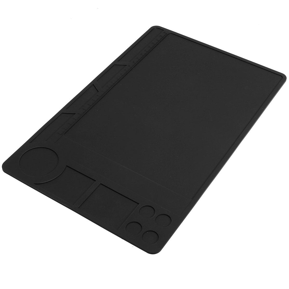 Heißer Verkauf Hitzebeständigem Silikon Matte Löten Pad Plattform Wärme BGA Lötstation Reparatur 329x208mm Schwarz