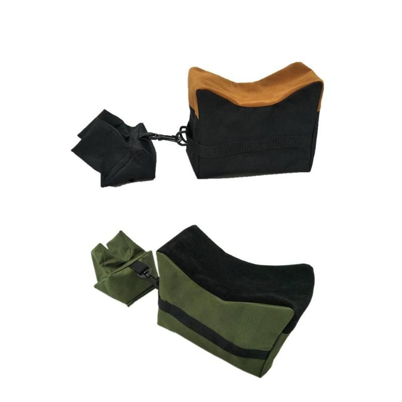 Front+Rear Bag Support Rifle Sandbag without Sand Sniper Target Stand Hunting Gun Accessories 600D Oxford Cloth Sandbag