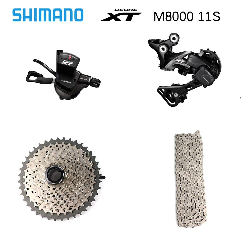 SHIMANO DEORE XT M8000 1x11 11S Speed 11-40T 11-42T 11-46T Groupset Contains Shifter Lever & Rear Dearilleur & Cassette & Chain