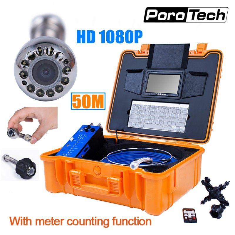 HD1080P 25mm Rohr Ablauf Kanalisation Inspektion Kamera System Pipeline Endoskop Endoskop mit 50 m kabel Meter Zähler Tastatur DVR h1