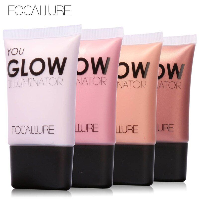 Focallure Marca Facial Highlighter Contorno Impermeable Maquillaje Brillo Iluminar Brillo Resplandor Highlighters Líquidos Maquillaje
