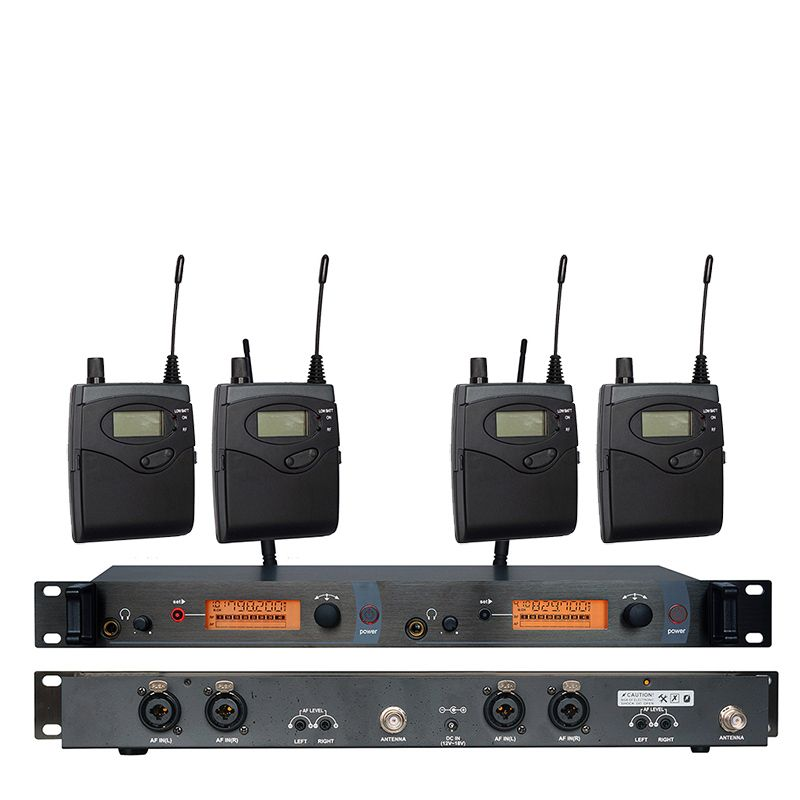 In Ear Monitor Wireless System SR2050 Double transmitter Monitoring Professional for Stage Performance 4 receivers