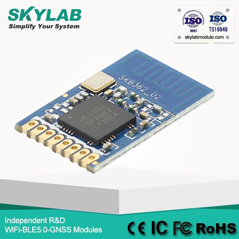 Hot Selling Serial Bluetooth Model SKB362 nRF51822 Bluetooth Transmitter Chip