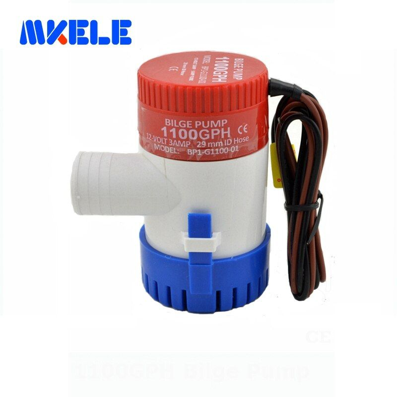Free shipping 1100GPH 12V High <font><b>Flow</b></font> Submersible used water in boat seaplane motor homes houseboat
