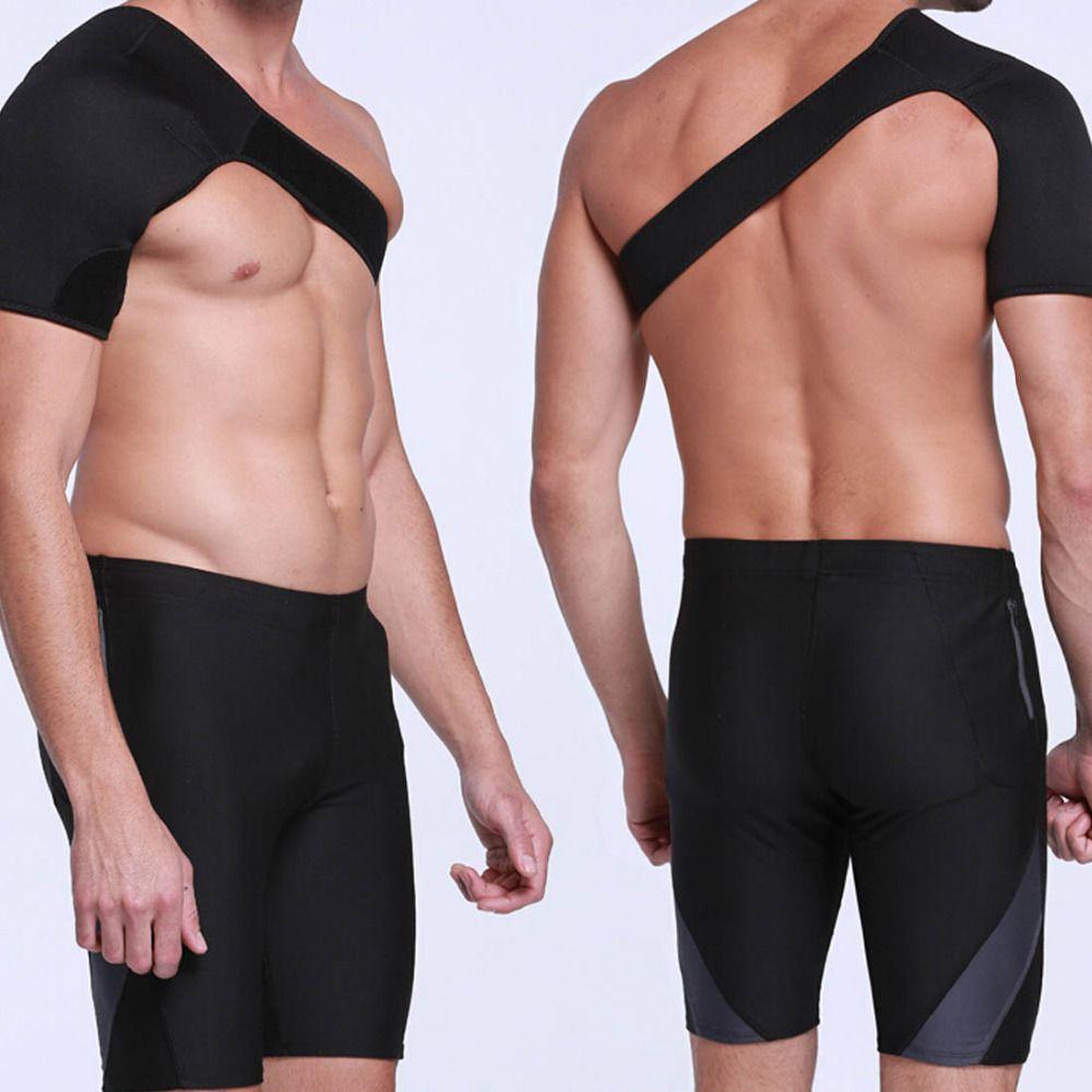 Breathable Shoulder Protection Men Injury Prevention Enhanced Protection Bandage Basketball Badminton Adjustable Shoulder Strap