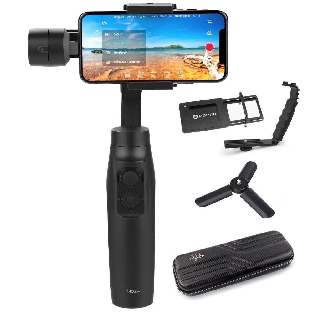 MOZA Mini-MI mini mi Gudsen World's First Smartphone Gimbal Stabilizer with Wireless Charging, Best Alternative to Smooth Q / 4