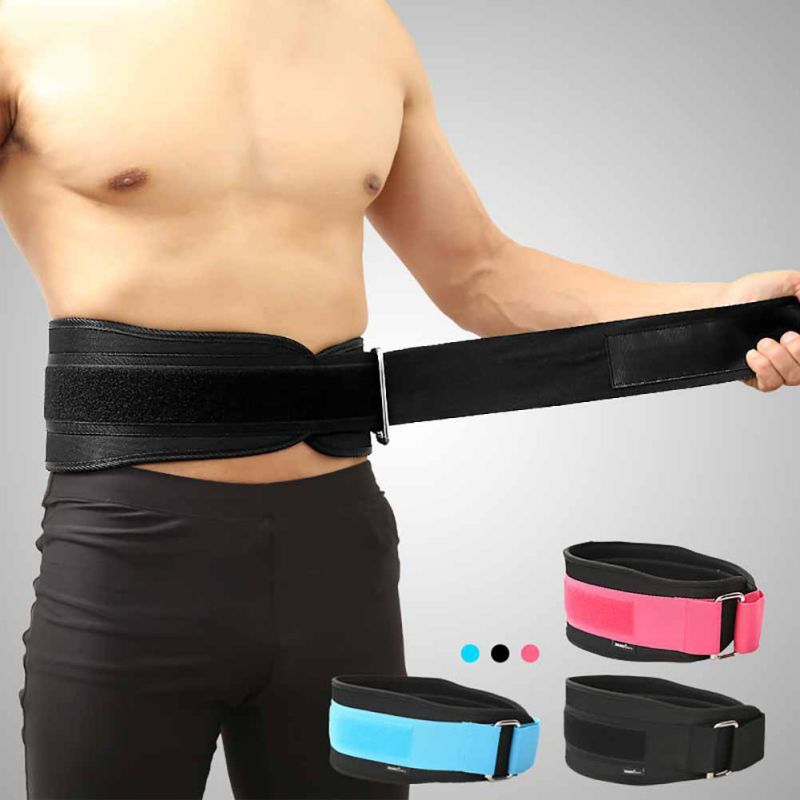 Training Fitness Protector Belt Weight Lifting Nylon EVA Weightlifting Squat Belt Lower Back Support Gym Bodybuilding Squats