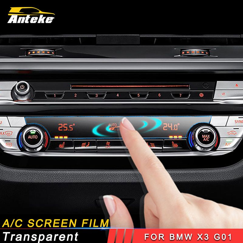 ANTEKE Car air condition screen film A/C scren protect accessories For 2018 BMW X3 G01