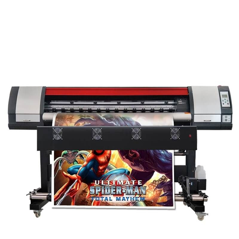 1,8 m/6ft Flex Banner Druck Maschine Große Format Inkjet Lösungsmittel Vinyl Aufkleber Drucker Maschine