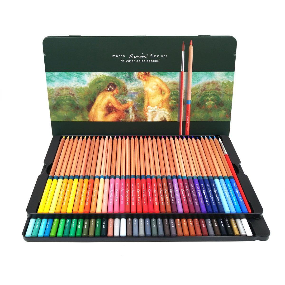 Marco Renoir 24/36/48/72/100 l'artiste Couleur Ensemble de crayons de Couleur lapis de cdr Professionnel Dessin Crayons de Couleur pour Dessiner