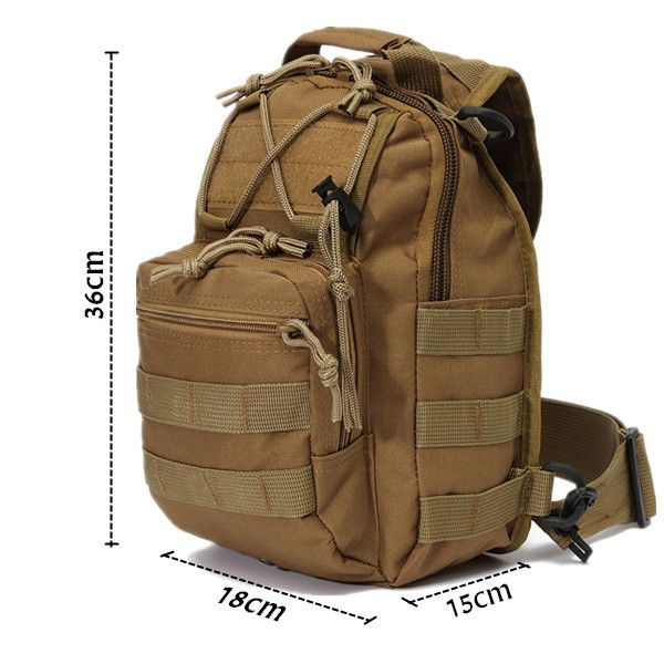 7colors Outdoor Tactical Fishing Camping Equipment Sports Nylon Wading Chest Pack Cross body Sling Single Shoulder Bag for Men