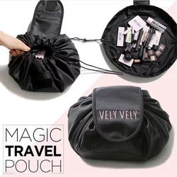 magic cosmetic travel pouch drawstring cosmetic bag women travel storage lady's string packing bag for cosmetic/Toiletries