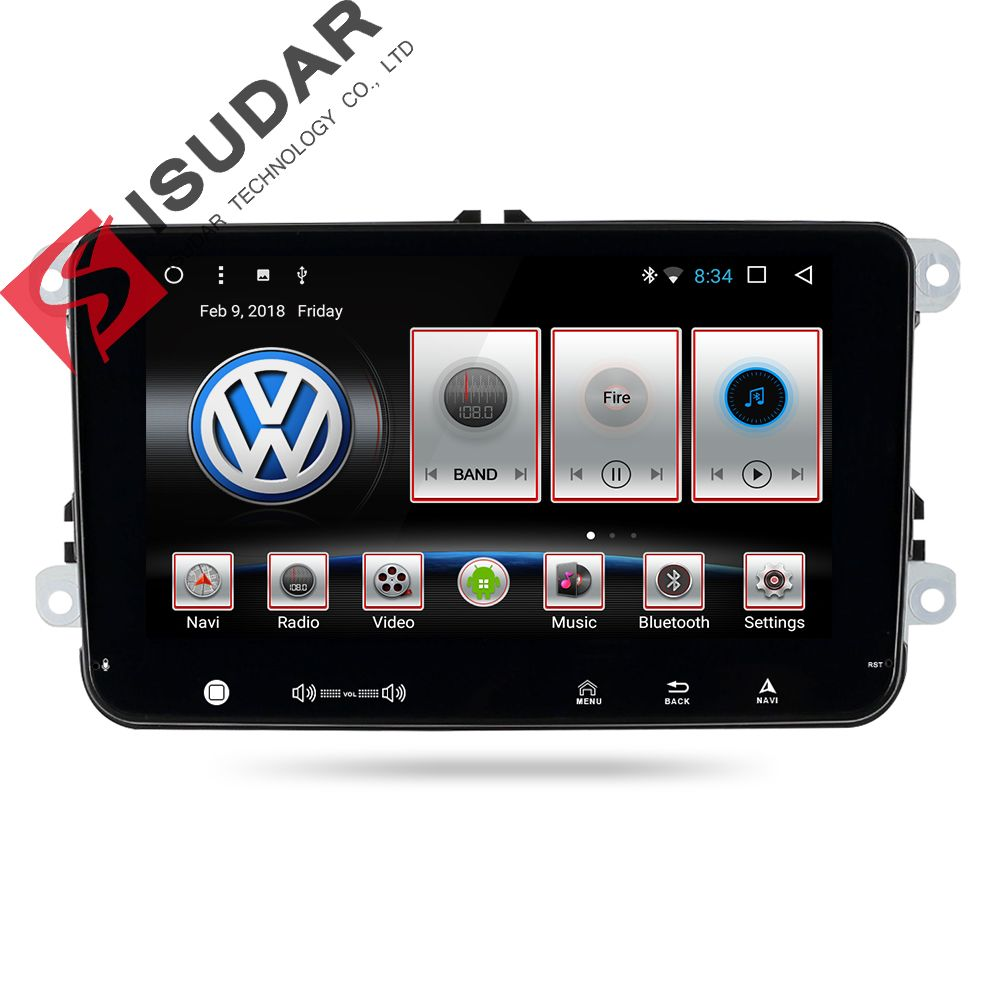 Isudar Car Multimedia Player GPS 2 Din Android 7.1.1 Autoradio For Volkswagen/VW/POLO/PASSAT/Golf/Skoda/Seat/Leon Radio fm DVR