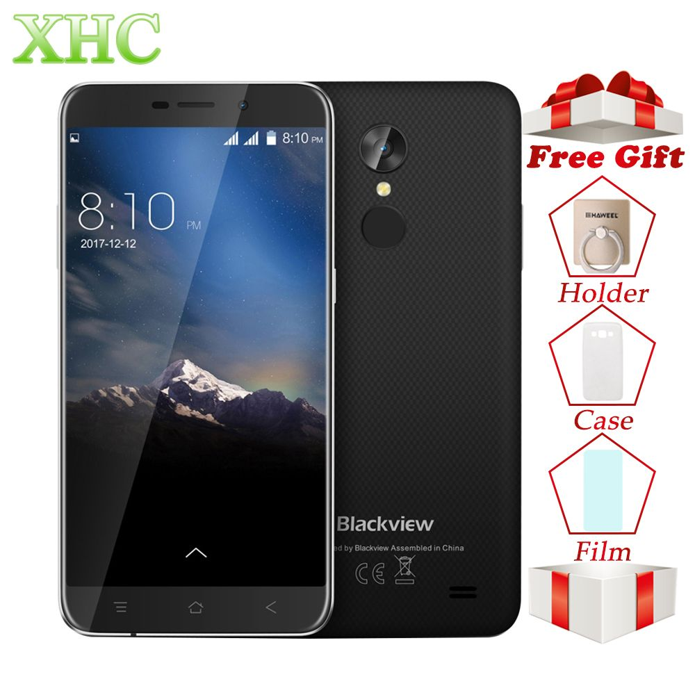WCDMA 3G Blackview A10 5.0'' Smartphone RAM 2GB ROM 16GB Android 7.0 1280x720Pixel MTK6580A Quad Core Dual SIM OTA Mobile Phones
