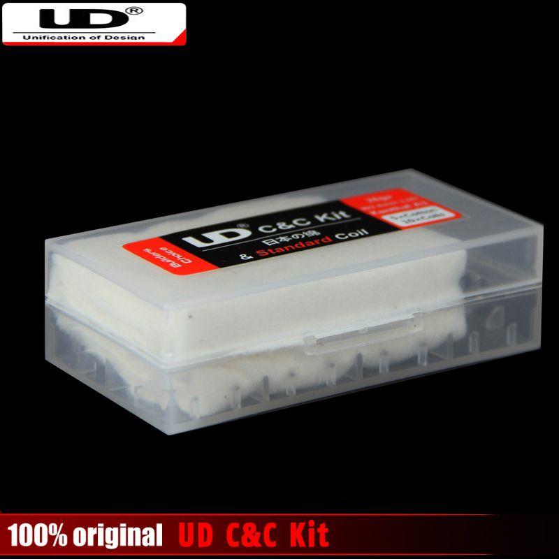 100% Original Youde UD C & C Kit Japan Bio-baumwolle und kanth A1 Prebuild Spulen DIY Werkzeug für RDA & RBA Holt Zerstäuber kopf