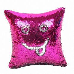 Блестящие наволочки русалки Волшебная блестящая улыбка декоративная оптовая продажа цвет меняющийся Реверсивный лоскутный однотонный на...