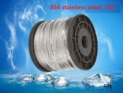 1MM, 1.2MM,1.5MM, 50M, 7X7, 304 stainless steel wire rope softer fishing cable clothesline traction rope lifting lashing