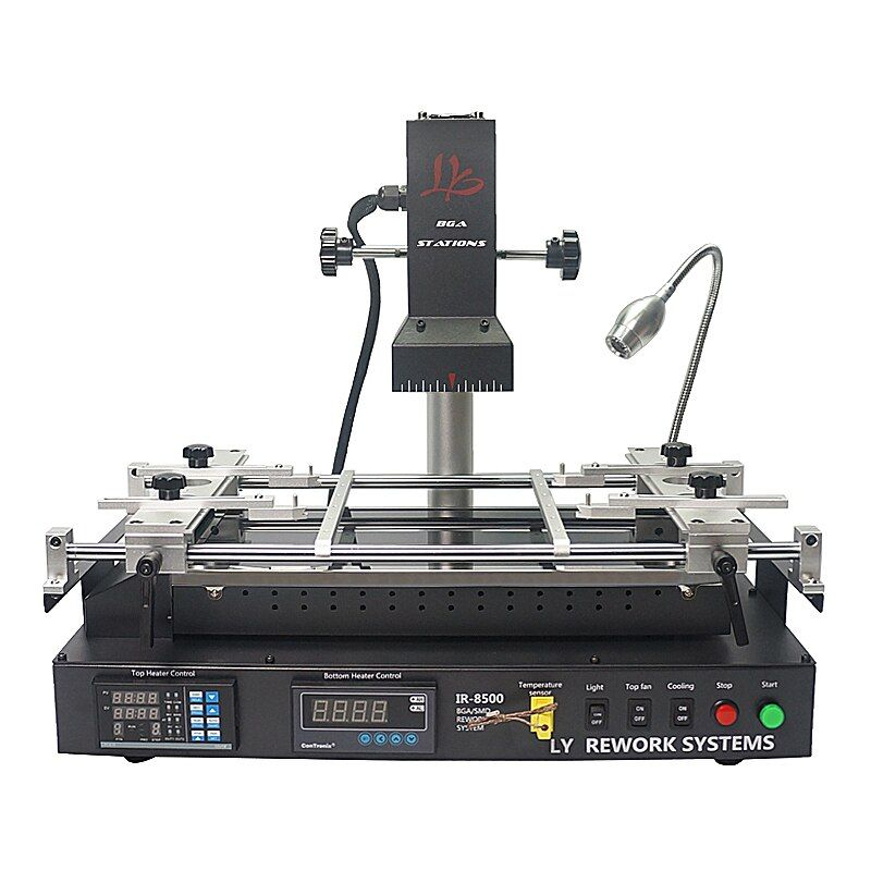 LY IR8500 infrared BGA Rework Station for laptop motherboard reparing, heating size IR8500 bigger heating size IR6500