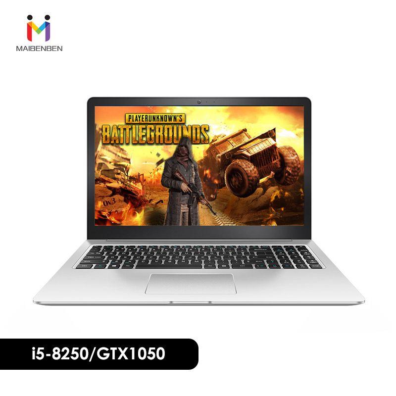 Ultra-dünne büro laptop MAIBENBEN DAMAI 6 S 15,6 i5-8250U/8G/PCI-E 256G SSD /NVIDIA GTX1050 4G/DOS/Silber