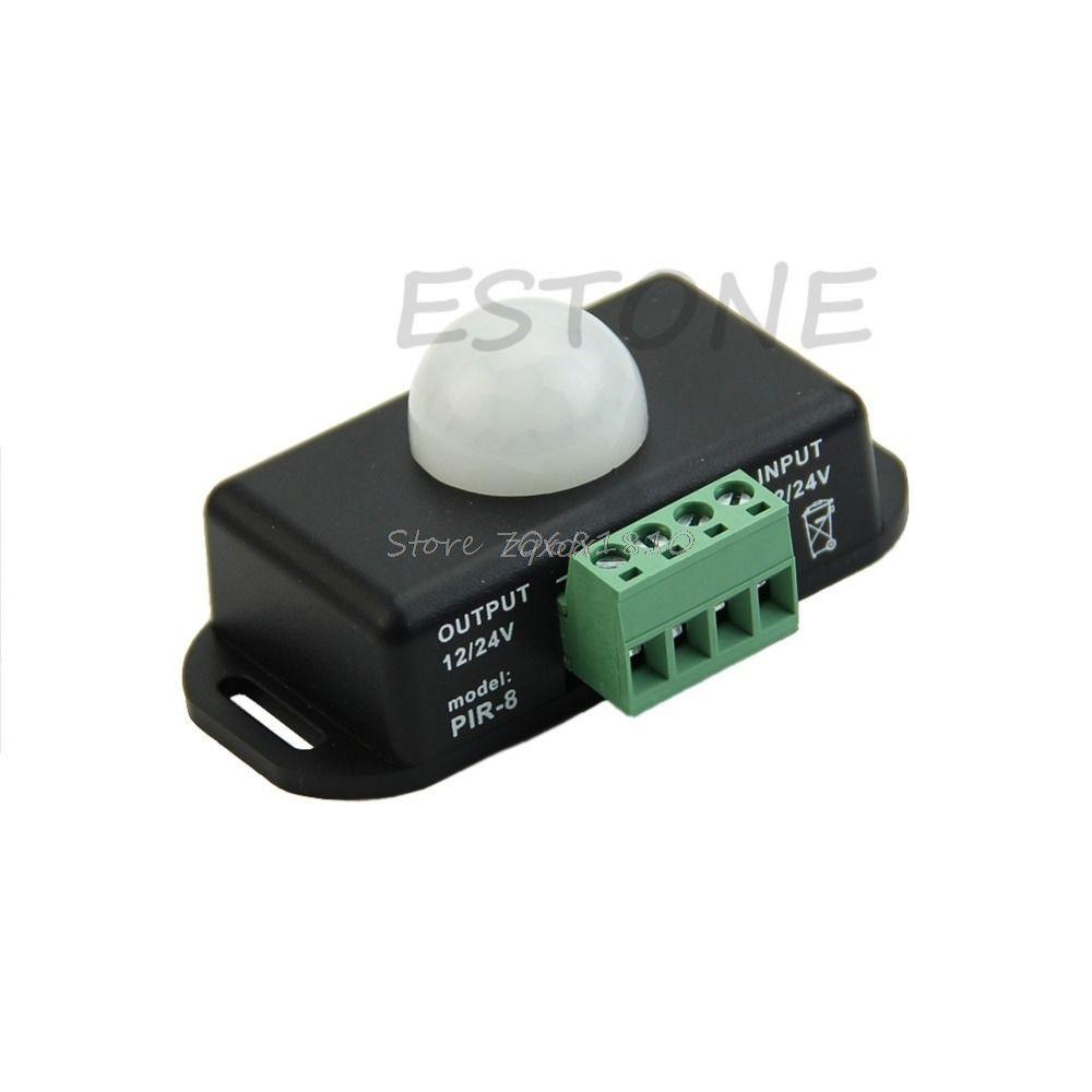 DC 12 V/24 V Körper Infrarot PIR Motion Sensor Schalter Für LED-Licht Streifen Automatische Z17 Drop schiff