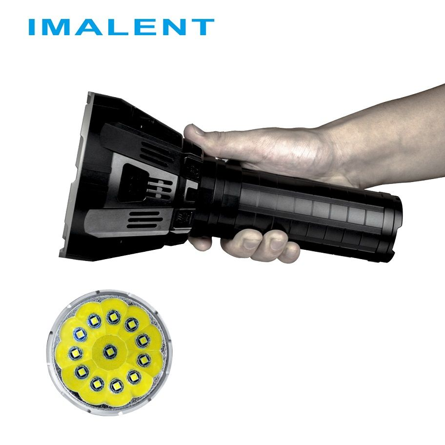 IMALENT MS12 LED Flashlight CREE XHP70 53000 Lumens with Intelligent Charging for High Performance Outdoor Search Light