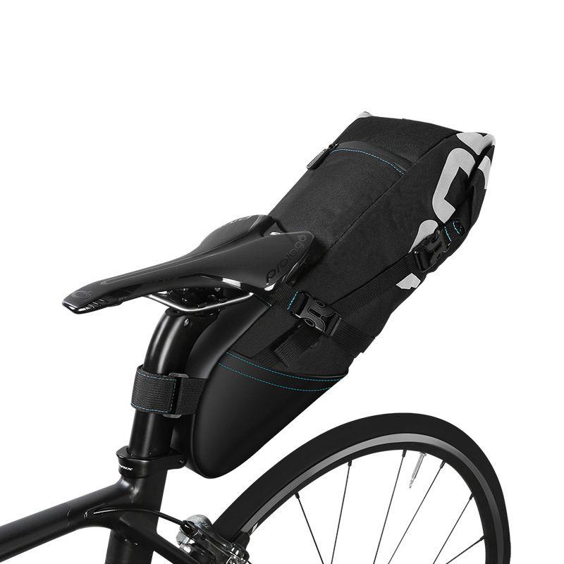 ROSWHEEL High capacity Bicycle saddle tail bags Bike storage pack rainproof bike shelf bag Cycling Organizer pack 8L 10L