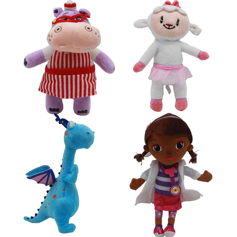 Plush toy doctor Doc McStuffins Dottie Hippo sheep Animal stuffed Plush doll Children Kids baby gift Hot Sale