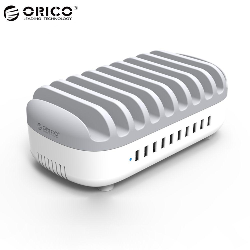 ORICO 10 Ports Usb-ladegerät 120 Watt 5V2. 4A Smart Professionelle Lade Station Dock mit Halter-standplatz für Iphone 7 6 s Power Bank