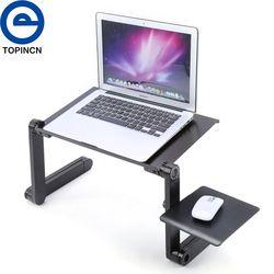 Mesa portátil plegable escritorio portátil ajustable soporte de escritorio sofá cama bandeja ordenador portátil escritorio con mouse pad