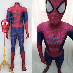 Hero penangkap berkualitas tinggi 3d pola menakjubkan spiderman suit spiderman kostum dengan masker hero spiderman spandex suit
