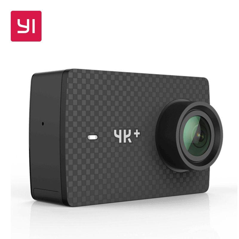 YI 4K+(Plus) Action Camera Black International Edition FIRST 4K/60fps Amba H2 SOC Cortex-A53 IMX377 12MP CMOS 2.2